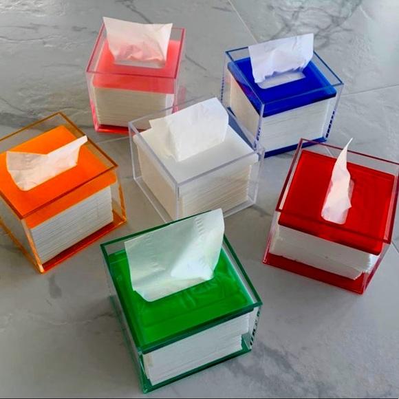 Acrylic Square Tissue Holder Box